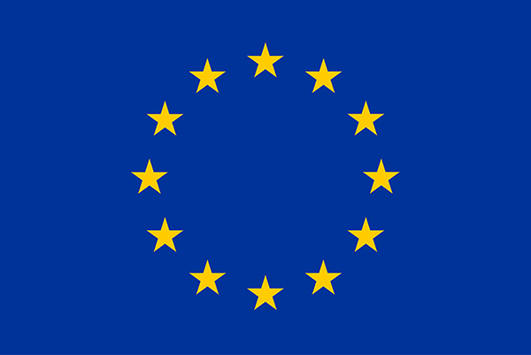 European Union flag in information about the H2020